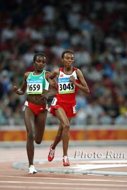 Olympic repeat—Tirunesh Dibaba (left) outran Elvan Abeylegesse over 5,000m as well. ©www.photorun.net