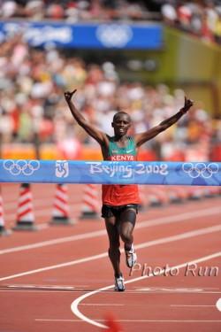 Sammy Wanjiru, the first Kenyan to win an Olympic gold medal in the marathon. ©www.photorun.net