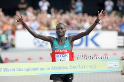 Abel Kirui has become Kenya's latest champion by winning the marathon. © www.photorun.net