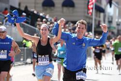 The finish line of the Boston Marathon ... ©www.photorun.net