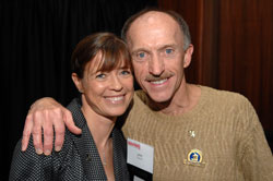 Jack Fultz and Uta at the Dana-Farber Marathon Challenge Pasta-Party. © private