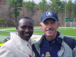 Jack Fultz with fellow Boston Marathon champion (1996 and 1998) Moses Tanui. © private