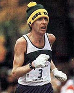 Bill Rodgers racing the 1980 New York City Marathon.