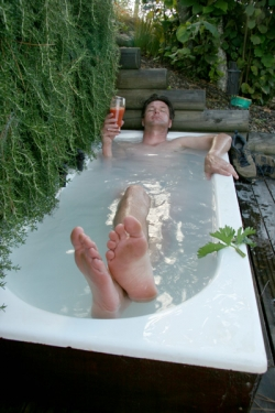 A nice soak two days before the marathon can help relax your muscles and mind. Avoid one the day before because you might feel sluggish, and if you stay in too long, you might miss the start! © Betty Shepherd