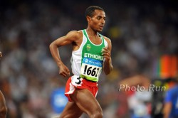 Kenenisa Bekele—the favorite for the men's long distance competitions. © www.PhotoRun.net