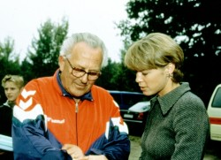 Uta's first coach: Heinz Lüdemann. © Victah Sailer