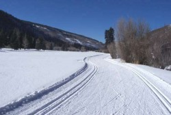 Cross-country skiing makes you strong for running on the road as well. © private