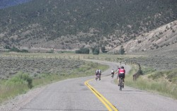 Riders on the 100-mile course through the gorgeous Colorado Rocky Mountains… © Take The Magic Step/Dieter Hogen
