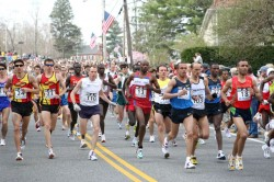 Each year the Boston Marathon takes places on the traditional New England Patriots Day… © www.photorun.net