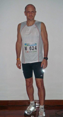 After—just hours before the Bangkok Marathon in 2008.