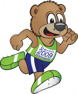 'Berlino'—the beloved mascot of the World Championships 2009 in Berlin. © IAAF 2008 TM