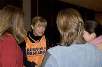 Run for Research team members meet with Uta.©private
