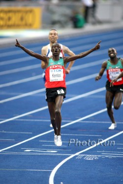 A great day for Kenya as Ezekiel Kemboi sets a World Championship record in the steeplechase. © www.photorun.net