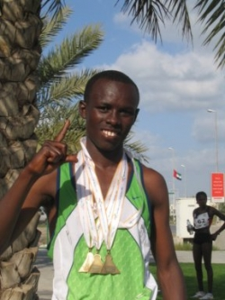 Sammy Wanjiru broke the world half marathon record for the third time. © Pat Butcher
