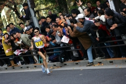 Olympic champion Naoko Takahashi at an AIMS event, the Tokyo International Women's Marathon. © www.photorun.net