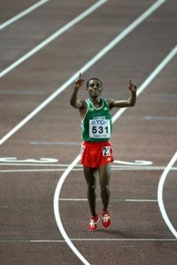 Kenenisa Bekele won another 10,000m world title, but it wasn't easy. ©www.photorun.net