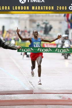 Martin Lel won yet another major marathon. ©www.photorun.net