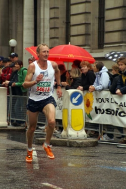 Nicky Martin at the London Marathon. © Courtesy of Nicky Martin.
