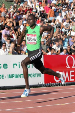David Rudisha on his way to the world record in Rieti. © www.photorun.net
