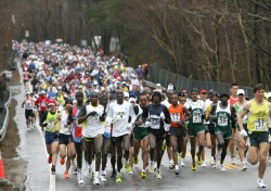 The hilly course of the Boston Marathon challenges thousands of runners each year. © www.PhotoRun.net
