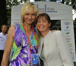 Uta meets her good friend Heike Drechsler, World Championship winner of the long jump in 1983 and 1993. © Camera4