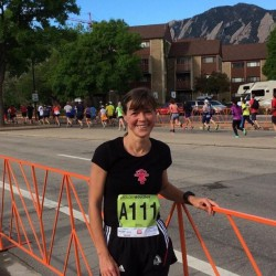 …after Uta fnished her run in the citizen's race of the BolderBOULDER 10K. © Take The Magic Step®