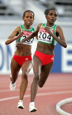 The Ethopians Tirunesh Dibaba and Meserat Defar are dominant in the women's long distance events. © www.PhotoRun.net