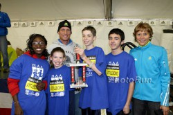 Grete is seen here with the kid's winners at one of the adidas sponsored running events. ©www.PhotoRun.net