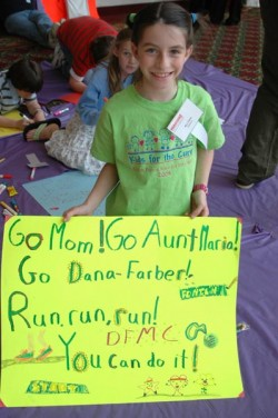 """Go Mom"" poster girl, Dana-Farber Marathon Challenge 2006. ©Laura Wulf"