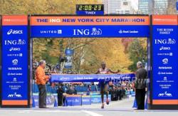 Geoffrey Mutai successfully defended his title. ©www.PhotoRun.net