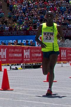 Team Kenias Allan Kiprono lief auf den zweiten Platz. ©Morgan McKenna