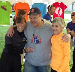 Joan Benoit Samuelson and Uta enjoy the great atmosphere during the events of the Bellin Run weekend. © Take The Magic Step®
