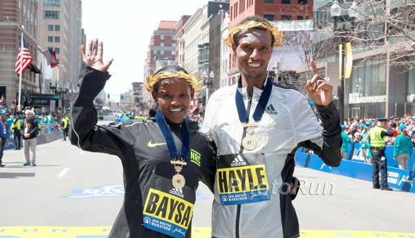 Atsede Baysa, Lemi Berhanu Hayle Crowned at the 120th Edition of the Boston Marathon