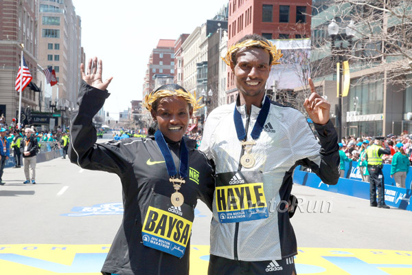 Atsede Baysa, Lemi Berhanu Hayle Crowned at the 120th Edition of the Boston Marathon