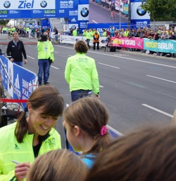 At the finish line of the Berlin Marathon... © Take The Magic Step®