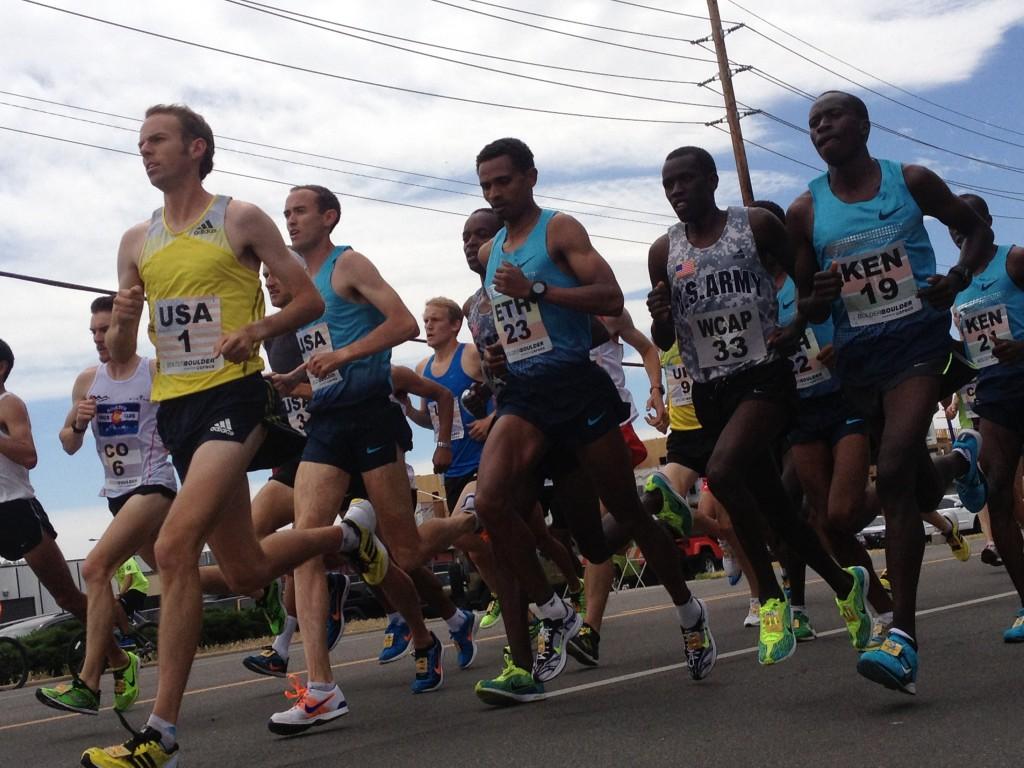 The men's elite runners. © Jay Prasuhn