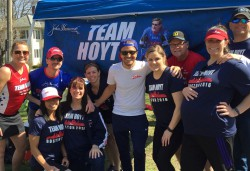 Team aid station. © Team Hoyt
