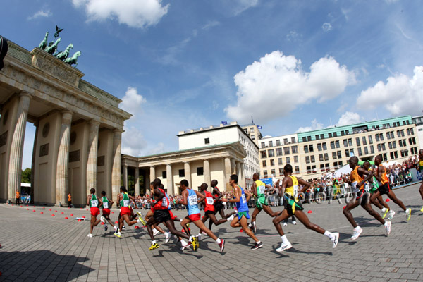 Berlin and the Running Bear Win Hearts at the World Championships