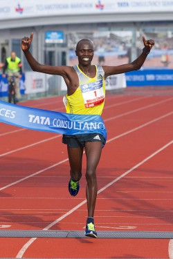 Wilson Chebet is aiming for his fourth win in Amsterdam. ©Amsterdam Marathon