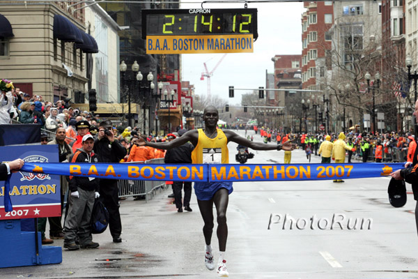 Cheruiyot Wins Wacky-Weather Boston Marathon