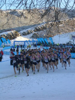 """Wintry conditions in Edinburgh—just before the start of the """"Team Challenge."""" ©Take The Magic Step®"""