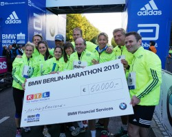 "The relay team of RTL's ""We help children"" charity marathon. ©Take The Magic Step"
