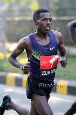 Lelisa Desisa, seen here in New Delhi in 2010, placed first in The Hague with a personal best. ©www.photorun.net