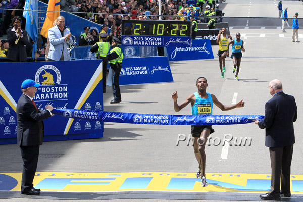Lelisa Desisa Triumphs at the Boston Marathon