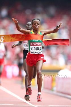 Mare Dibaba won the women's marathon gold for Ethiopia. ©www.PhotoRun.net