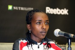 Tirunesh Dibaba, pictured here at the 2008 Boston Indoor Games, triumphed in Madrid after a long break due to injury. © www.photorun.net