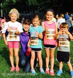 Little champions enjoyed a speedy Dick Lytie Children's Run on Friday. ©Take The Magic Step