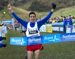 Spain's Ayad Lamdassem won the men's 8K race in Edinburgh. ©Nova International