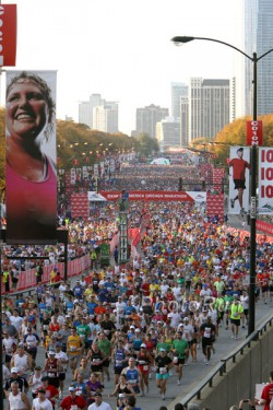 The start of the Chicago Marathon. ©www.PhotoRun.net