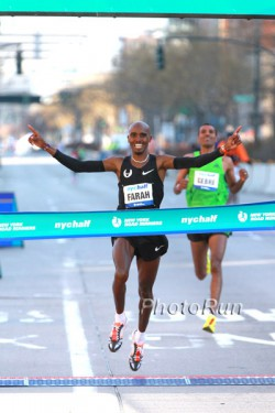 Mo Farah triumphed in New York after a close race to the finish with Gebre Gebremariam. ©www.photorun.net